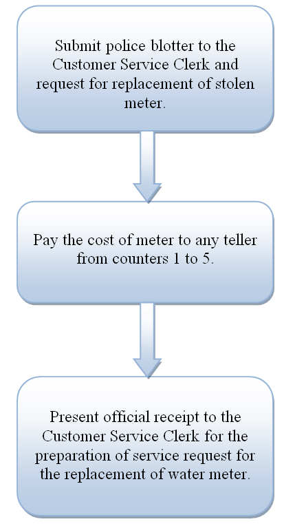Flowchart On Request For Replacement Of Stolen Meters Bacolod City